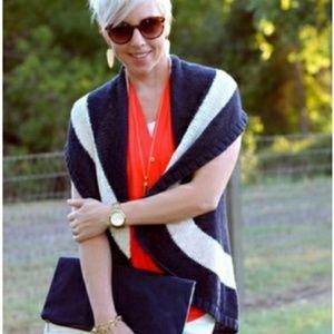 CAbi Sweaters - CAbi Striped Skipper Sweater Knit Vest Q165